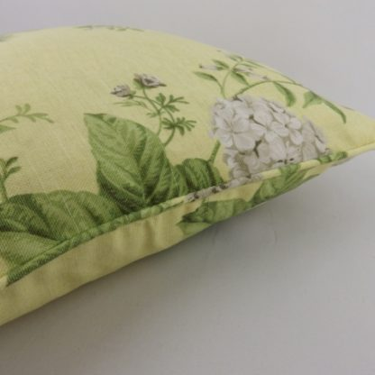 Yellow Hydrangea Rose Floral Cushion