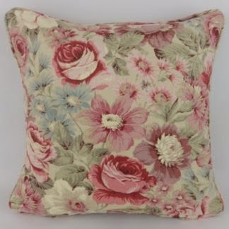 Sanderson Scented Garden Red Pink Mauve Cushion