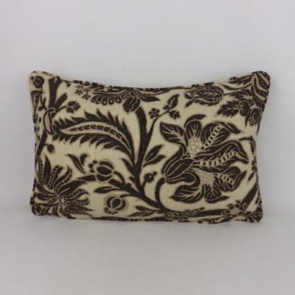 Black Linen Sanderson Cornucopia Oblong Bolster Cushions