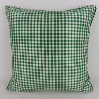 Vintage Green Silk Gingham Pillow Cushions