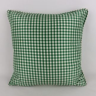 Vintage Green Silk Gingham Cushions