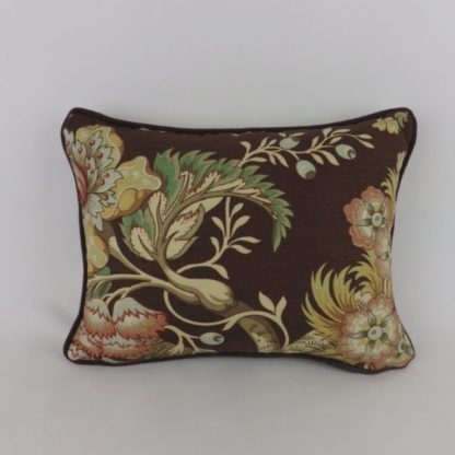 Titley and Marr Tree of Life Brown Linen Oblong Lumbar Cushions