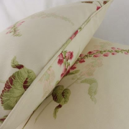 Large Cottage Garden Foxgloves Floral Cushions