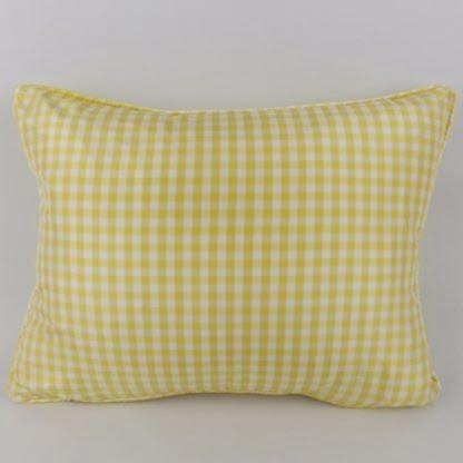 Yellow Silk Gingham Cushion