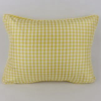 Yellow Silk Gingham Cushion