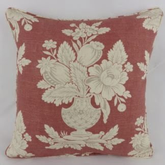 Brick Red Floral Vase Tamerlane Hodsoll McKenzie Cushion