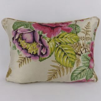 Red Purple Rose Silk Cushions