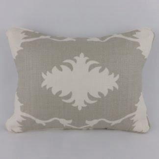 Grey Schumacher Garden of Persia Linen Cushion