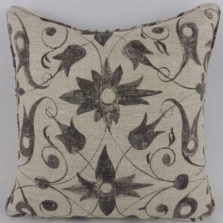 Saffron Walden Tracery Zoffany Charcoal Cushion