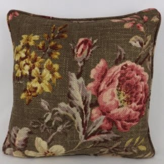 Dark Floral Rose Botanist Cushion