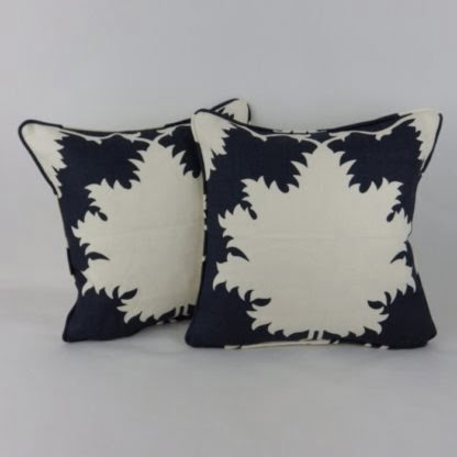 Blue Schumacher Garden of Persia Cushion