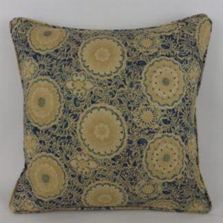 Blue Designer Floral Pattern Cushions