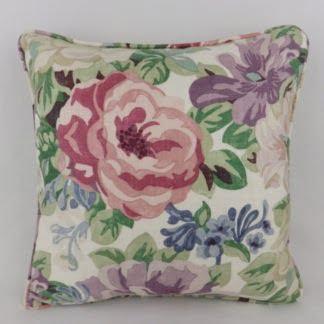 Midsummer Rose Sanderson Vintage Floral Linen Cushion
