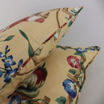 Vintage Cow Country Floral Cushion