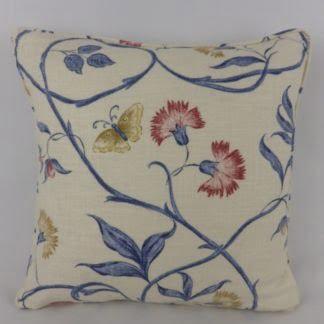 Jane Churchill Lyndon Blue White Floral Cushions