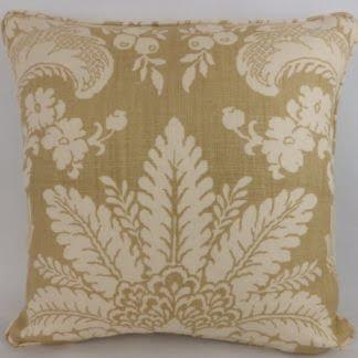 Melbury Damask Schumacher Linen Large Cushion