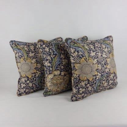 William Morris Kennet Indigo Blue Cushions