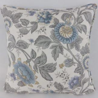 Wedgewood Blue Grey Floral Cushion