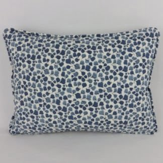Classic Blue White Leaf Cushion