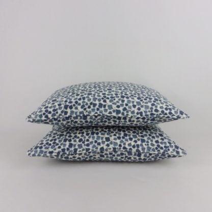 Classic Blue White Leaf Cushion