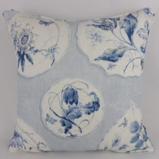 Colefax & Fowler Ditchley Blue Floral Cushion