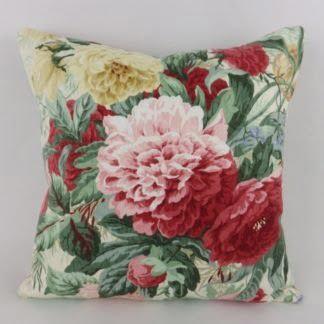 Vintage Floral Sanderson Devonshire Place Cushion
