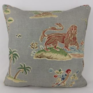 Large Titley and Marr Knole House Grey Vintage Classic Cushion