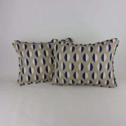 Classic Blue Sanderson Ellipse Spot Cushion