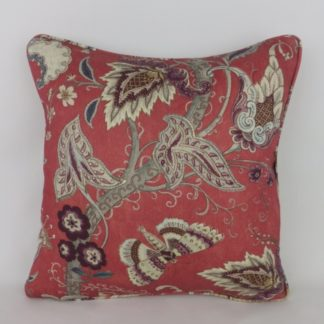 Designer Wool Indienne Paisley Red Grey Cushion