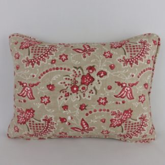 Red William Yeoward Antony Lumbar Cushion