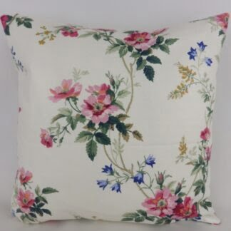 Pink Raspberry Red Vintage Rose Floral Cushions