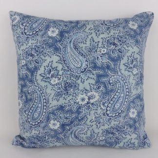 William Yeoward Millbrook Ocean Blue Paisley Cushions
