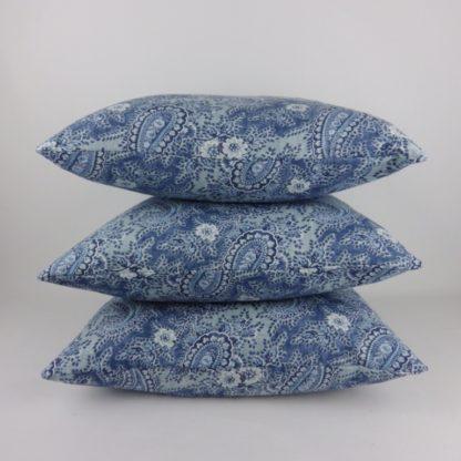 William Yeoward Millbrook Ocean Blue Paisley Cushions