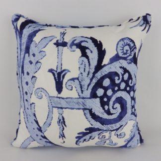 Indigo Navy Blue Print Cushions