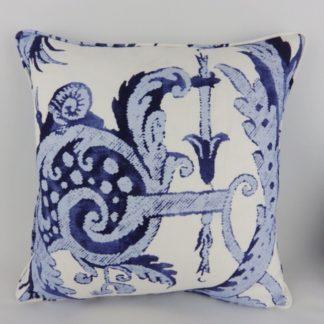 Indigo Navy Blue Print Cushion