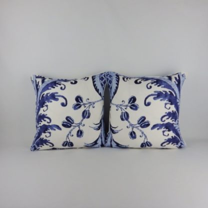 Classic Blue Chivasso Blueprint Cushions
