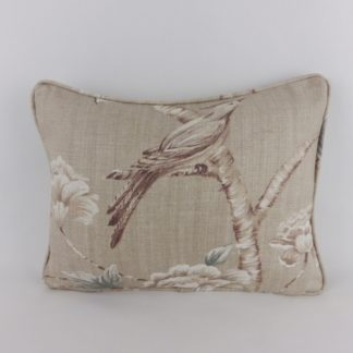Zoffany Woodville Clay Bird Linen Cushions