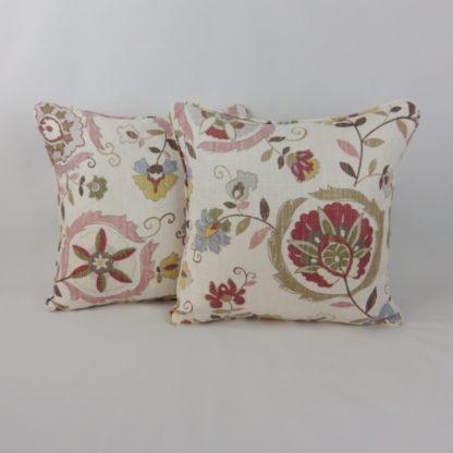 Montmartre Lee Jofa Pink Pearl Flowers Cushions