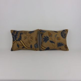 Thibaut Denmark Jacobean Acorn Leaf Pair of Mini Cushions