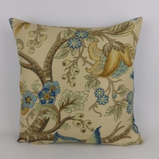 Designer Tree of Life Linen Velvet Cushion