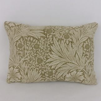William Morris Marigold Olive Linen Oblong Cushion