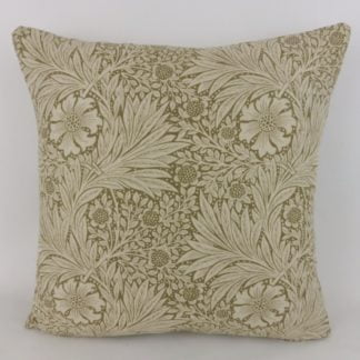 William Morris Marigold Olive Linen Cushion
