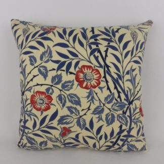 William Morris Sweet Briar Indigo Red Cushions