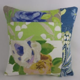 Designer Floral Patchwork Cushion