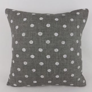 Slate Grey Polka Dot Linen William Yeoward Marese Cushions
