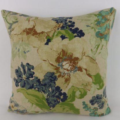 Blue Green Floral Cushions