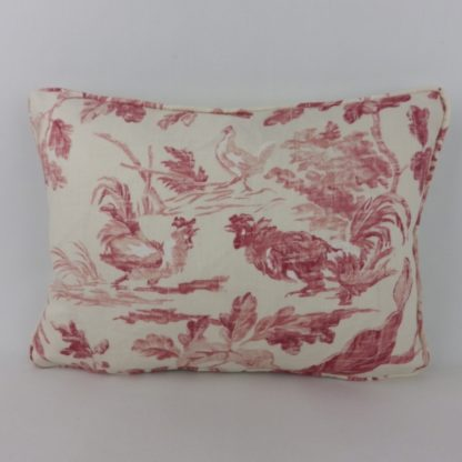 Pink Aesops Fables Sanderson Oblong Lumbar Cushion