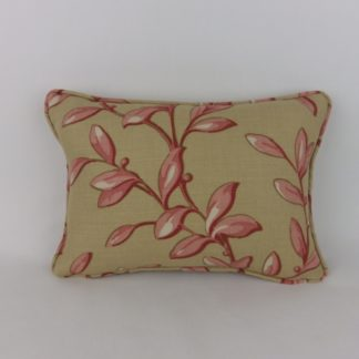 Red Biscuit Tintinhull Leaf Baker Lifestyle Linen Fabric Cushions