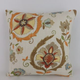 Montmartre Lee Jofa Orange Stylised Floral Cushions
