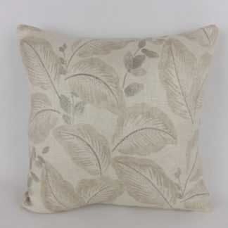 Sanderson Leaf Box Hill Taupe Grey Natural Cushions